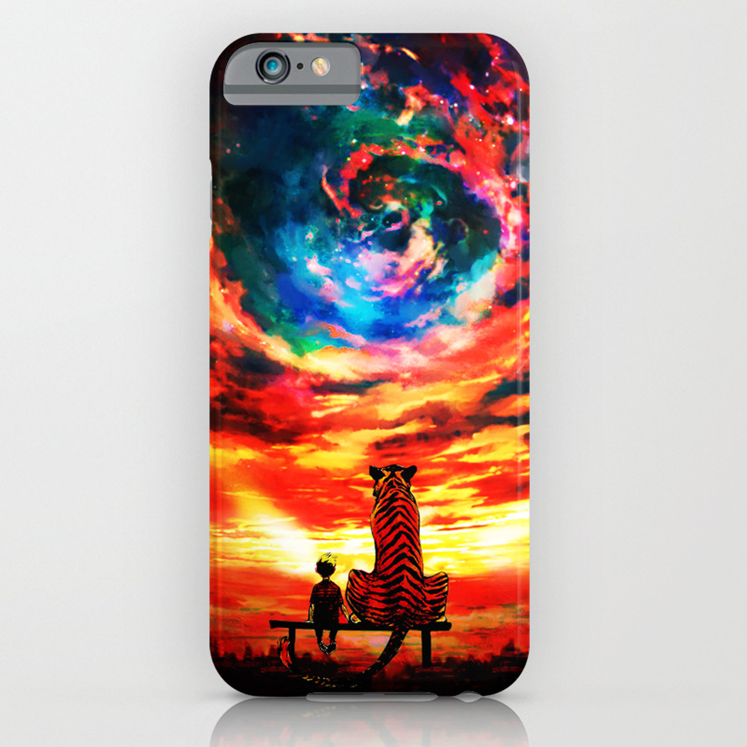 Calvin And Hobbes Staring Galaxy iphone case