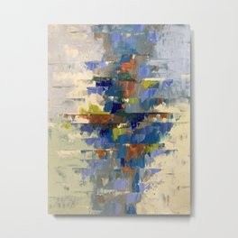 Balanced in Blue Abstract Metal Print