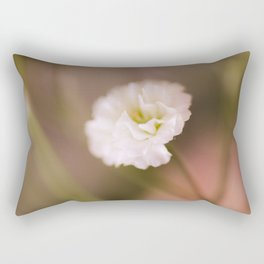 White Flower Rectangular Pillow