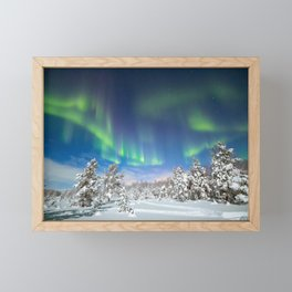A night under polar sky Framed Mini Art Print