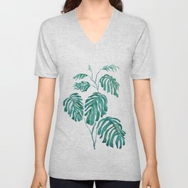 Monstera painting 2017 Unisex V-Neck