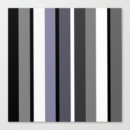 Grey stripes pattern Canvas Print
