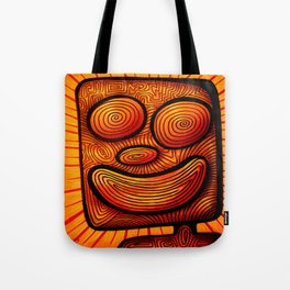 enthusiastic square boy Tote Bag