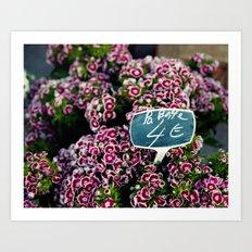 At the Flower Market 1 Art Print