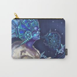 Snow Queen and a SnowFlake Carry-All Pouch