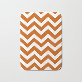 Burnt orange - orange color - Zigzag Chevron Pattern Bath Mat