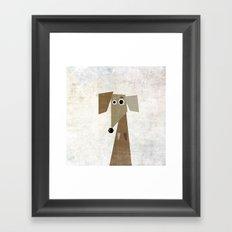 Odd Dachshund  Framed Art Print