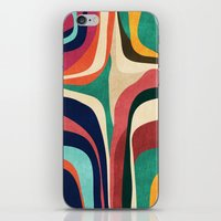 map iPhone & iPod Skins featuring Impossible contour map by Picomodi