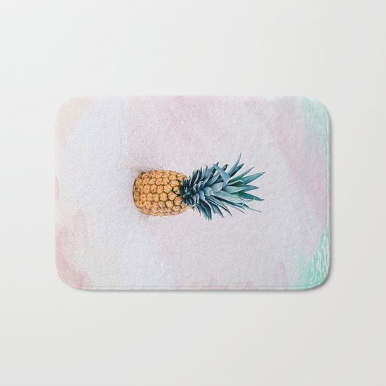 Pineapple on the beach Bath Mat