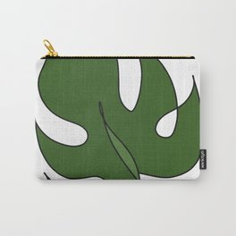 Monstera Transparent Carry-All Pouch