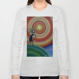 """Painting """"The Song of Kokopelli"""" Long Sleeve T-shirt"""