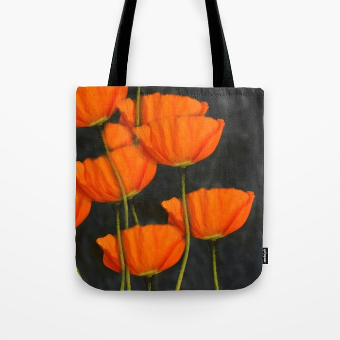 Poppies (orange) Tote Bag