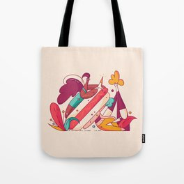 Hotdog Assassination Tote Bag