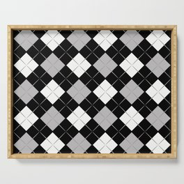Checkered background Serving Tray