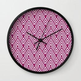 Marsala Diamond Pattern Wall Clock
