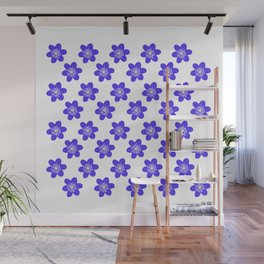 Flower Anemone Hepatica, small Wall Mural