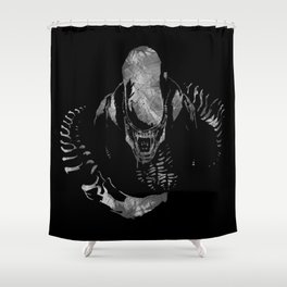 Aliens Here Shower Curtain