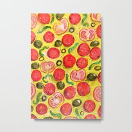 pizza texture Metal Print
