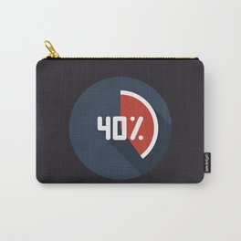"""Print illustration """"percentage - 40%"""" with long shadow in new modern flat design Carry-All Pouch"""