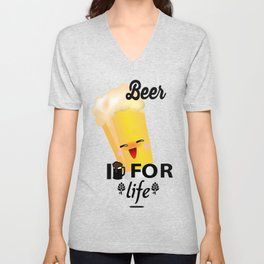 Beer For Life Unisex V-Neck