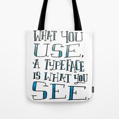 Fonts, Typefaces & Lettering Tote Bag