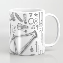 a bike's flatlay Coffee Mug