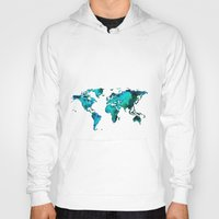 world maps Hoodies featuring maps by StraySheep