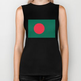 Flag of Bangladesh, High quality authentic HD version Biker Tank