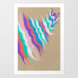 rainbow waves Art Print