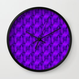 Strange arrows of violet rhombs and black strict triangles. Wall Clock