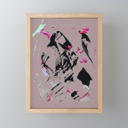faze pink Framed Mini Art Print