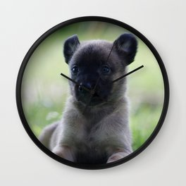 A yellow Shepherd puppy Spok Wall Clock
