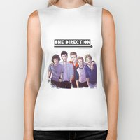one direction Biker Tanks featuring One Direction by Gianbe