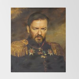 Ricky Gervais - replaceface Throw Blanket