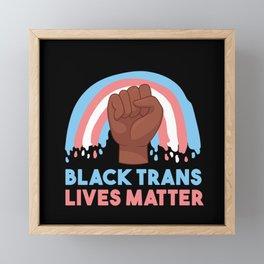 Black Trans Lives Matter BLM Transgender Framed Mini Art Print