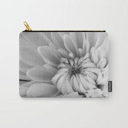 Chrysanthemum B&W Carry-All Pouch