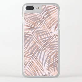 Shady rose gold palms Clear iPhone Case