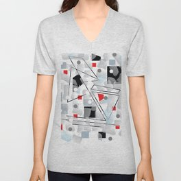 Crooked Lines And.Boxes Unisex V-Neck
