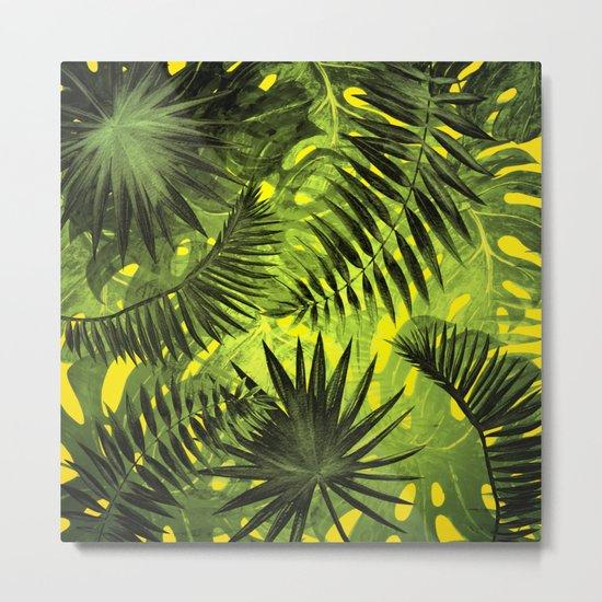 Tropical Leaves Aloha Jungle Garden Metal Print