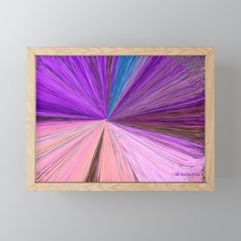 """Silver Moon – Elements"" Painting Framed Mini Art Print"