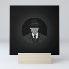 Secret Agent Man - black & white Mini Art Print