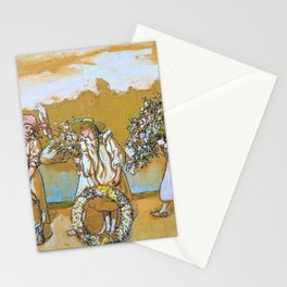 Outdoors Blows The Summer Wind - Carl Larsson Stationery Cards