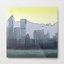 Dusk Skyline Metal Print