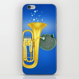 Puffer Fish Playing Tuba iPhone Skin