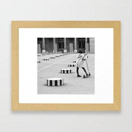 Palais Royal, Paris in Black & White Framed Art Print