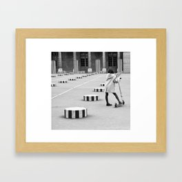 Palais Royal, Paris in Black & White Framed Art Print
