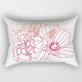 Floral Arrangment - Sunset Ombre Rectangular Pillow