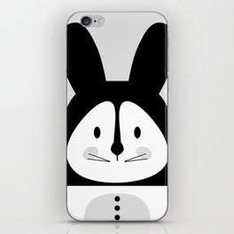 Rabbit BW iPhone Skin