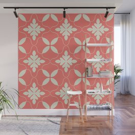 Floral coral - living coral seamless pattern Wall Mural