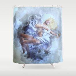Far Far Away Shower Curtain
